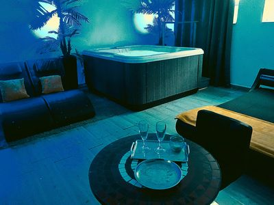 Photo for SUITE LUNA WITH PRIVATE JACUZZI IN VILLA SPA