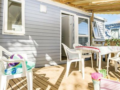 Photo for Camping Les Tours **** - Mobil-home Cozy Plus 3 Rooms 6 People conditioning
