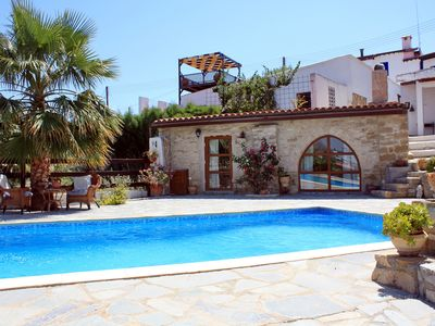 Photo for Traditional Stone Village House With Private Pool And Stunning Sea Views