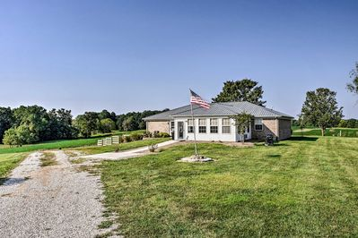 This beautiful property is located on a 130-acre farm in Scottsville.