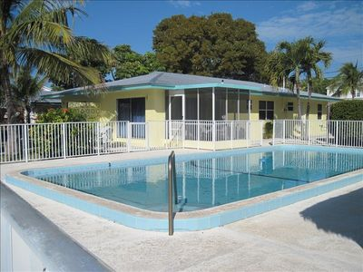 'Clearwater' has a pool large enough for the whole family.