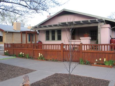 Pristine 1922 Bungalow sets the tone for your stay in the suite behind house.