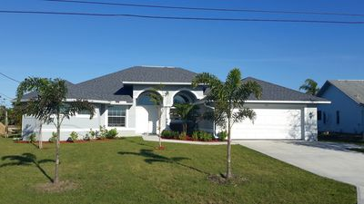 Photo for NEW Cape Coral Villa Red Sunset, heated pool and beautiful water view