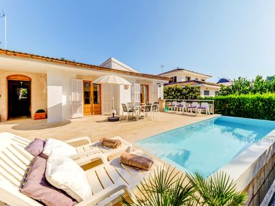 Photo for Villa Villalonga: Private Pool, Walk to Beach, WiFi, Car Not Required