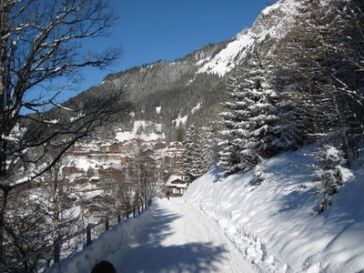 View from path to chalet back to Wengen.