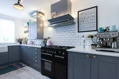 My property has everything you need; a sleek, fully-equipped kitchen..