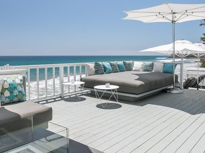 Photo for Malibu Beachfront Contemporary 5 Star+The Best Deck In Malibu+Beachfront Jacuzzi