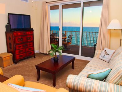 Photo for Beach Front Condo! 2/2 at Ocean Reef, Low Floor, Near Pier Park, XL Balcony!