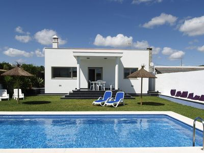 Photo for Modern holiday home with private pool near the beach
