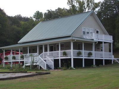 Photo for 3 Bed 3 Bath-Large Wrap Around Porch Family Friendly, Hot Tub & Approved Pets