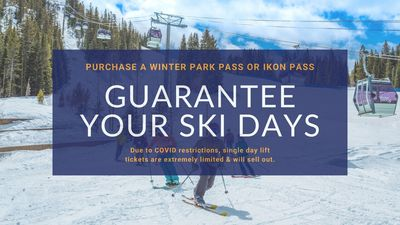New this year, single day lift tickets are limited and will sell out