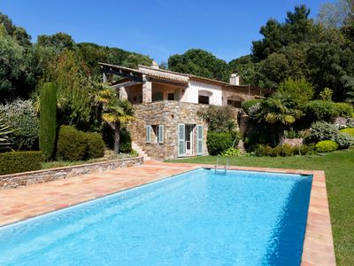 Photo for NEW: Sea view St. Tropez - Cap Tahiti, walking distance to the beach of Pamplone