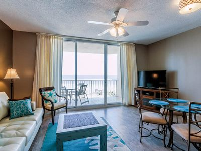 Photo for Enjoy Full Gulf Views From a Private Balcony ~ Free WiFi ~ Walk to the Beach!
