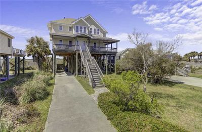 Photo for Spacious home with incredible views, directly across from beach!