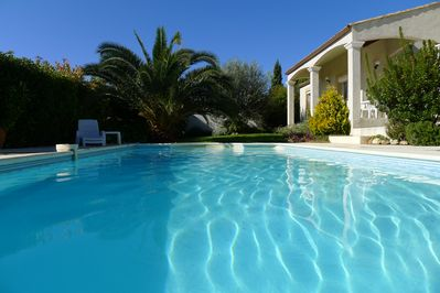 Pool and shaded terrace