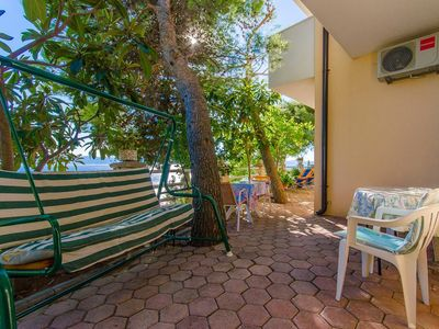 Photo for Studio flat with terrace and sea view Pisak, Omiš (AS-2802-a)