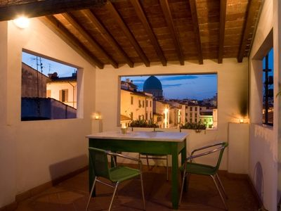 Photo for Roof top terrace home in the heart of Florence, free wi fi, air conditioned