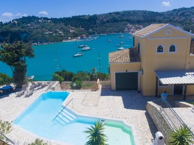 Photo for Alexander: Large Private Pool, Walk to Beach, Sea Views, A/C