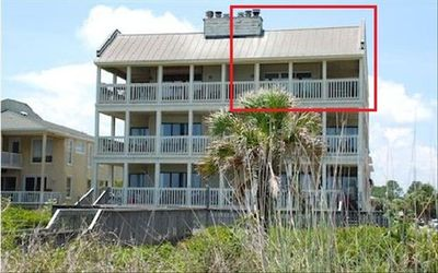 Front, as seen from the beach