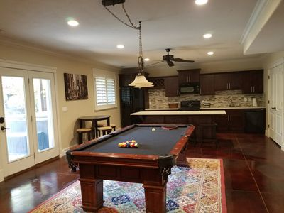 Photo for Great Sandy apartment with hot tub and pool table!
