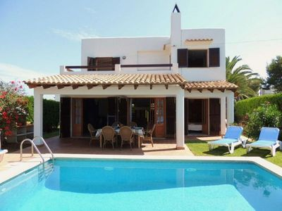 Photo for Terraced Villa with Wifi, Private Pool in a Great Location near the Beach !