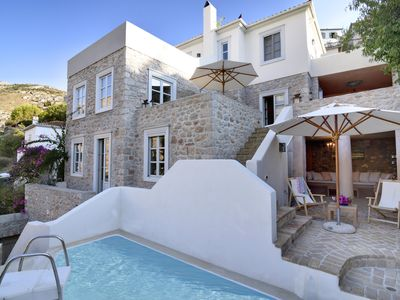 Photo for Beautiful villa on picturesque island of Hydra, 10 minutes walk to harbour