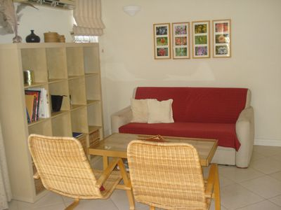 Photo for Upscale furnished holiday apartment in quiet road with pool close to golf club
