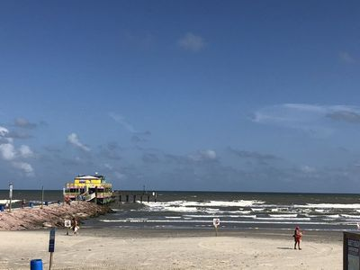 Photo for Condo across the street from the beach and close to Pleasure Pier!!