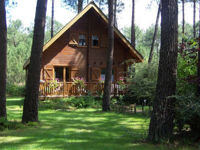 Photo for Nice wooden house in a quiet woodland setting - pure relaxation in nature