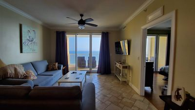 Photo for 17th Floor Resort Condominium. Great for Family,Master Bedroom on the gulf. WIFI