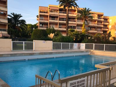 Photo for APARTMENT GOLFE JUAN SWIMMING POOL BEACH ON FOOT