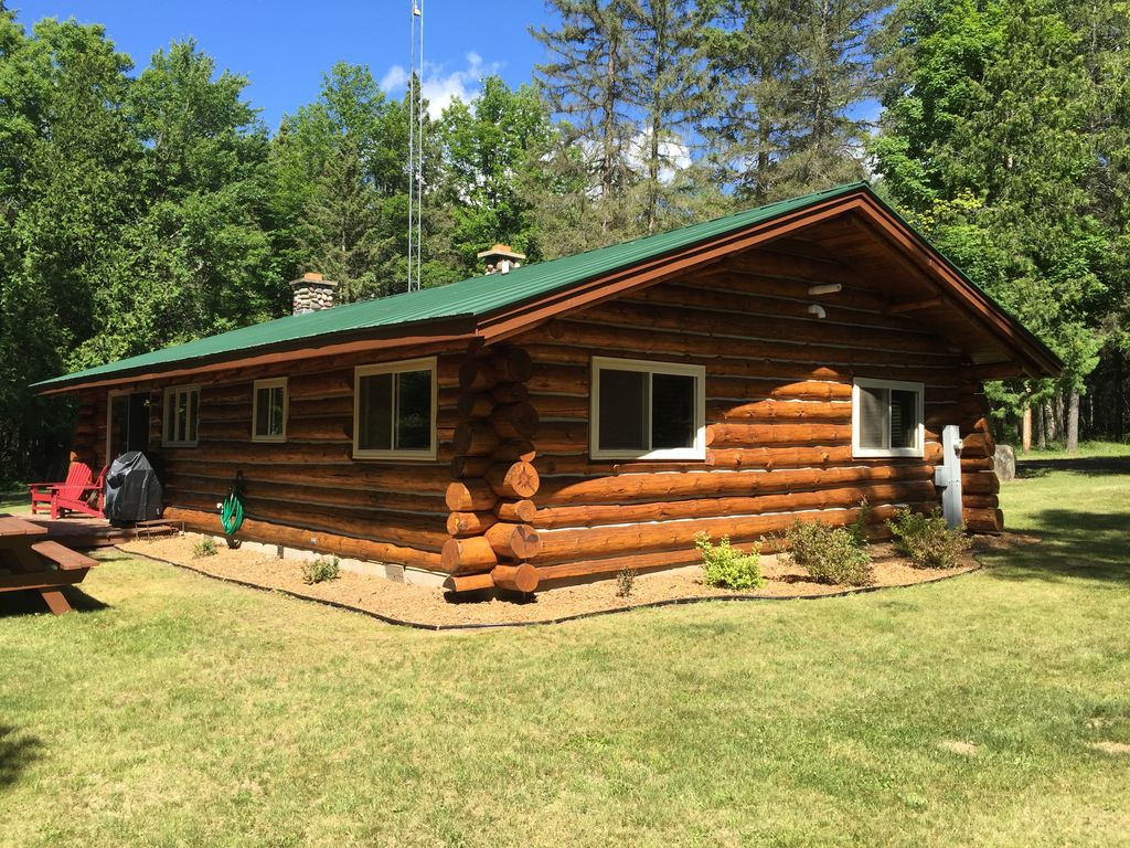 Craigslist Upper Peninsula >> Authentic Log Cabin Directly on Ontonagon River and Snowmobile Trail, Watersmeet,Upper Peninsula ...