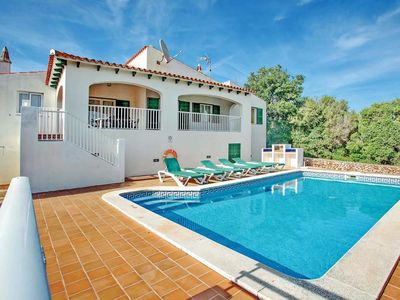 Photo for 3 Bed 2 bath villa w/private pool, car optional, A/C in lounge & bedrooms, free WiFi, built-in bbq.