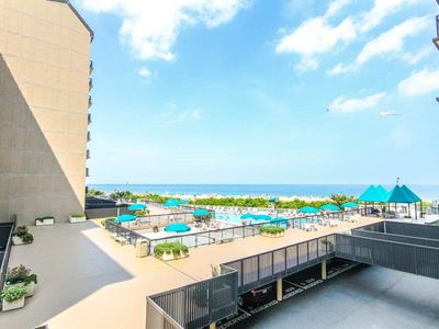 Photo for G212: 2BR+den Sea Colony oceanfront condo! Private beach, pools, tennis ...