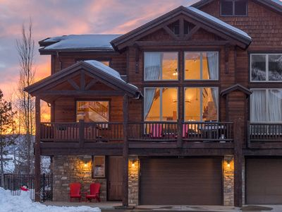 Photo for Spacious 4BD 4.5BA Townhome | HUGE Windows | Near Ski Area | Private Hot Tub w/ Views