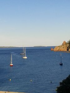 Photo for Direct on the sea and magical view 9 km from Cannes