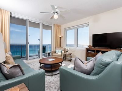 Photo for Beautiful Condo, Gulf-front balcony, Beach setup included, On the beach