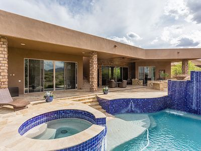 Photo for Sundown Retreat-Beautiful home with picturesque views, movie room and infinity pool.