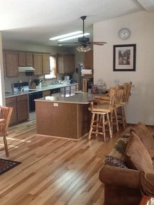 Well equipped kitchen with quartz counter tops