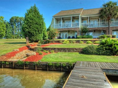 Photo for Beautiful Convenient Relaxing  Waterfront Townhouse on Lake Sinclair