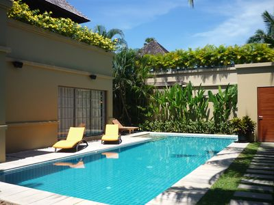 Photo for Stunning luxury villa, private pool, walled garden, 500 meters Bang Tao Beach.