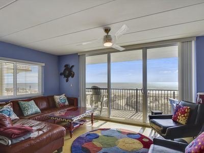 Photo for Direct Oceanfront w/ Modern Decor - Amazing Sunrises from Your Balcony!