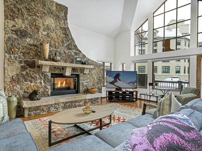Photo for GREAT FOR GROUPS & KIDS! SLEEPS 17! Ski-in/Out, Balconies on Icerink!