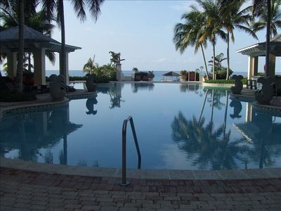 View of the Pool overlooking the sea.