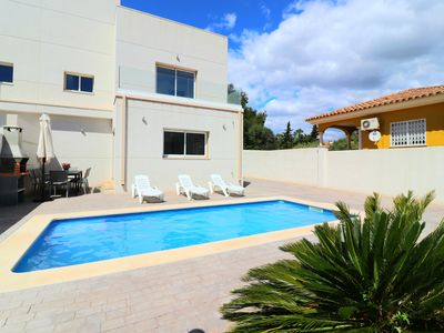 Photo for Villa Mestral HOT TUB Pool and Rooftop Terrace beside beach Full A/C free WIFI