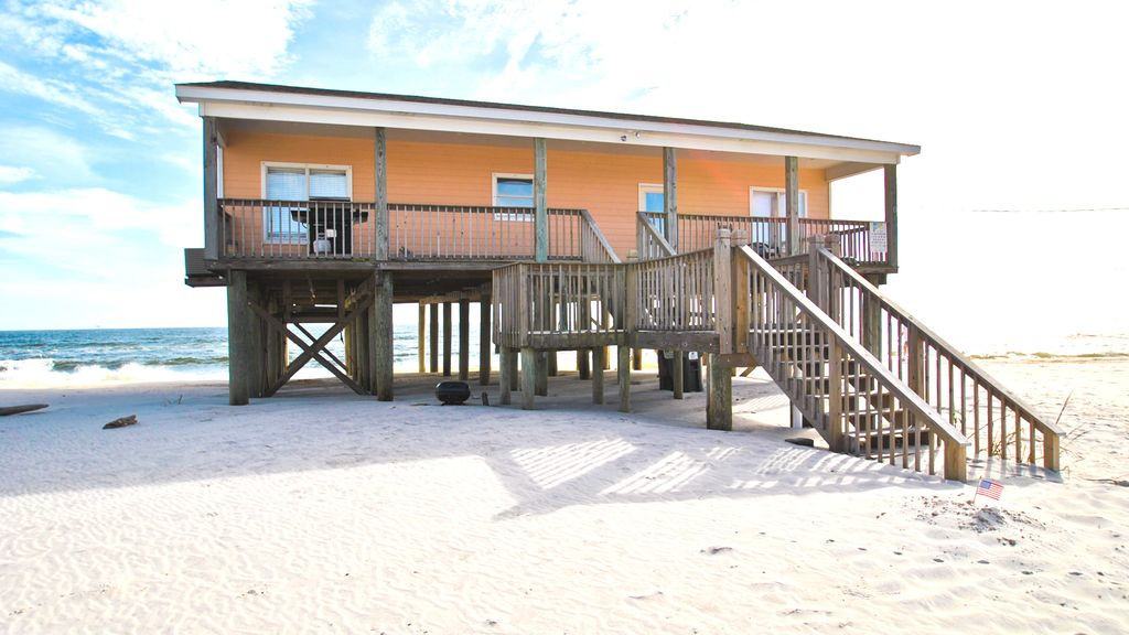 Map Australia 4371.Sun Spot Gulf Front 4 Bed 3 Bath Beach House Just Steps From The Water Dauphin Island