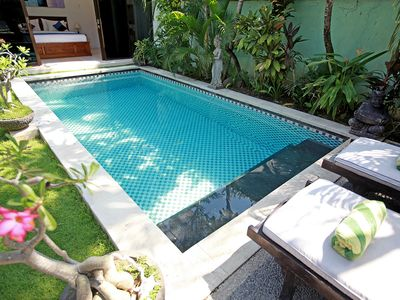 Photo for 3 BR Pool Villa, Central Seminyak, Staff