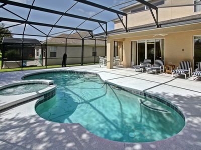 Photo for July Special!! Lakeside Disney Villa with Pool/Spa/Game/BBQ/WIF
