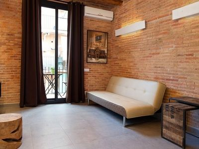 Photo for Apartment 410 m from the center of Barcelona with Internet, Lift, Terrace, Balcony (443095)