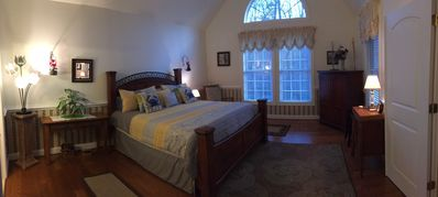 Master Bedroom with beautifully vaulted ceilings